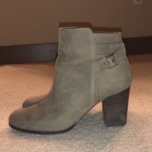 Cole Haan Taupe Suede Booties
